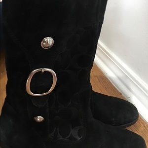 Coach blk suede boots size 9.5 org 240$
